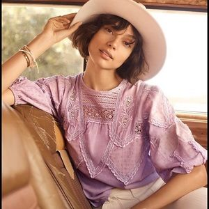 Anthropologie Aderyn embroidered blouse